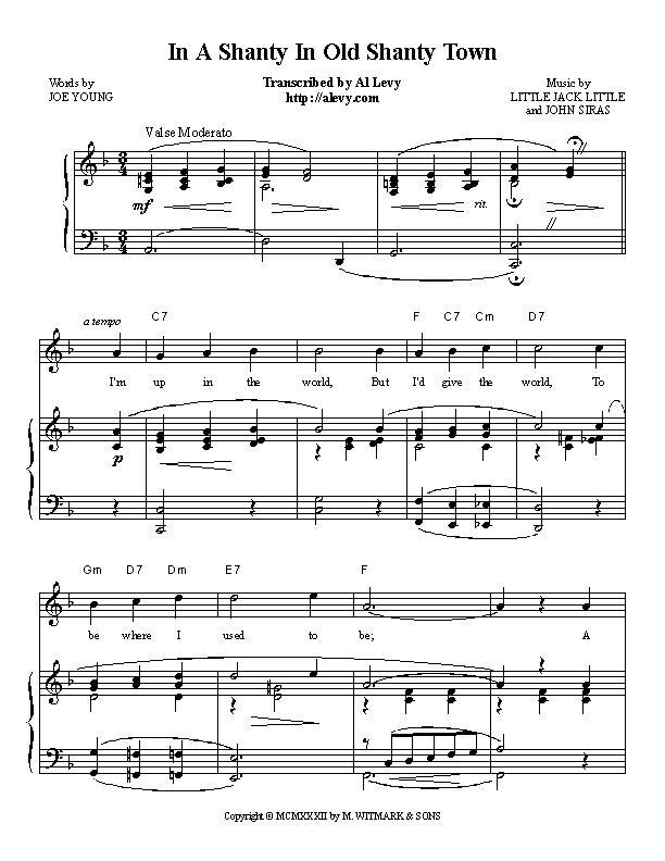 Piano piano bar songs sheet music : town.jpg