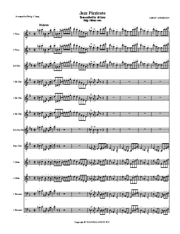 Transcribed And Sequenced By Al Levy As It Sounds Using My Synths To Order The Plete Midi Mp3 Or Sheet Music Click Here: Jazz Pizzicato Sheet Music At Alzheimers-prions.com