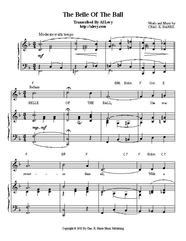 Piano piano bar songs sheet music : belle.jpg