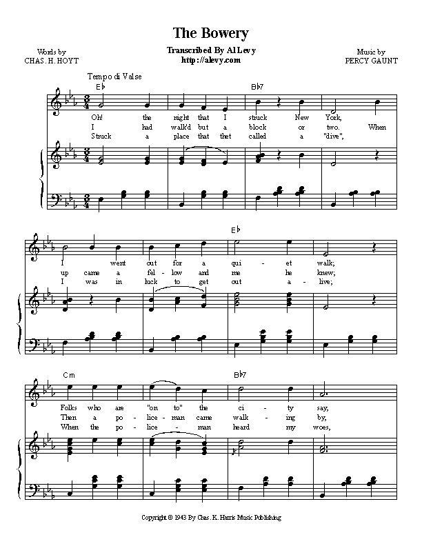 Piano piano bar songs sheet music : bowery.jpg