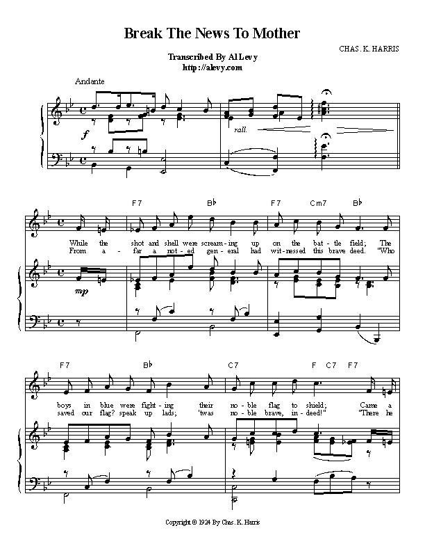 Piano piano bar songs sheet music : news.jpg