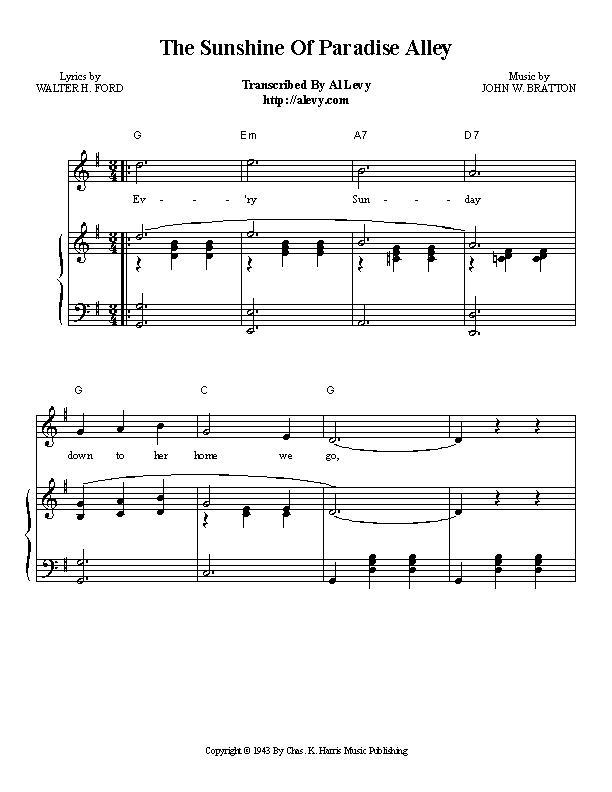 Piano piano bar songs sheet music : sunshine.jpg