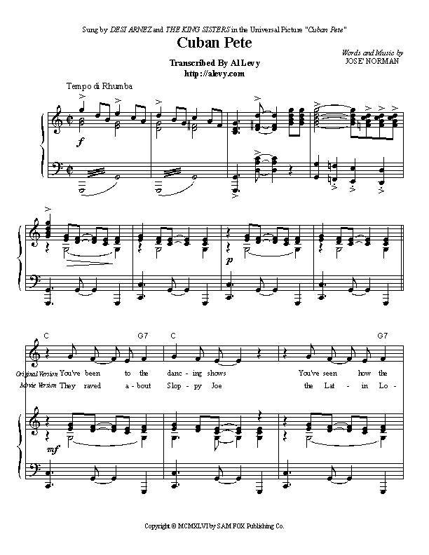 Piano piano bar songs sheet music : cubanp.jpg